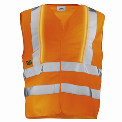 Warnweste orange uvex protection active flash