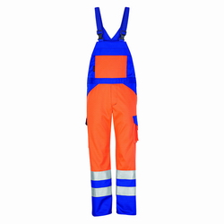 Latzhose Rofa 362 Multiseven orange-kornblau