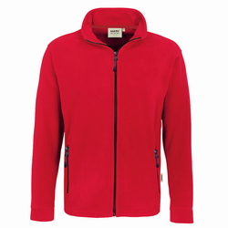 Hakro Fleecejacke Langley 840 rot