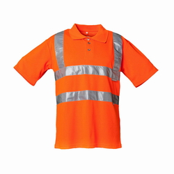 Warnschutz Polo-Shirt orange EN 20471